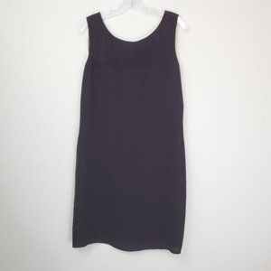Cynthia Rowley black silk shift dress 694